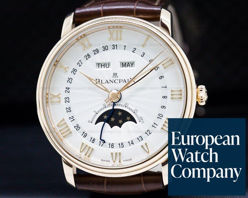 Blancpain 6664-3642-55b Villeret Moonphase & Complete Calendar 18K Rose Gold