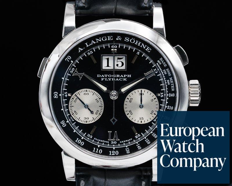 A. Lange and Sohne 403.035 Datograph Flyback Platinum / Deployant Buckle