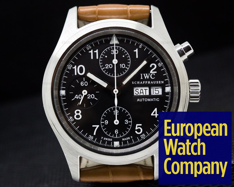 IWC IW370603 Pilot Chronograph SS Black Dial