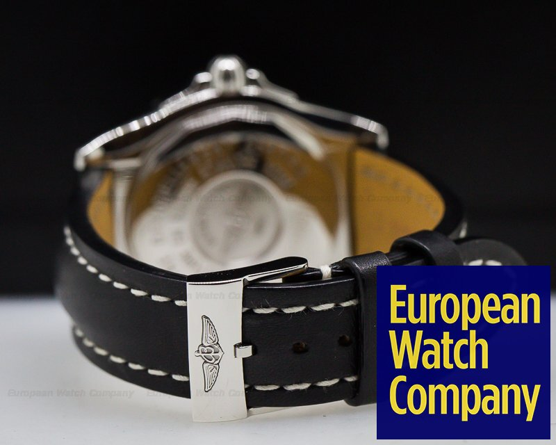 Breitling A49350L2/C806 Galactic 41 Black Dial SS / Strap