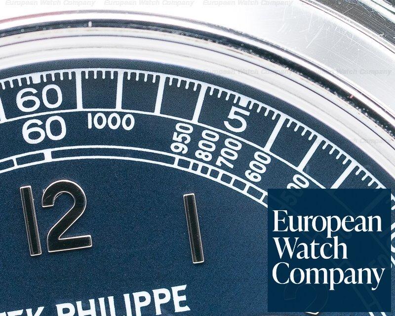 Patek Philippe 5070P 5070 Platinum Blue Dial Chronograph UNPOLISHED