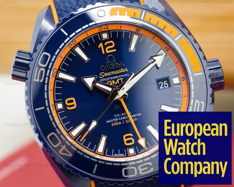 Omega 215.92.46.22.03.001 Seamaster Planet Ocean GMT 600M Co-Axial Blue Dial Ceramic
