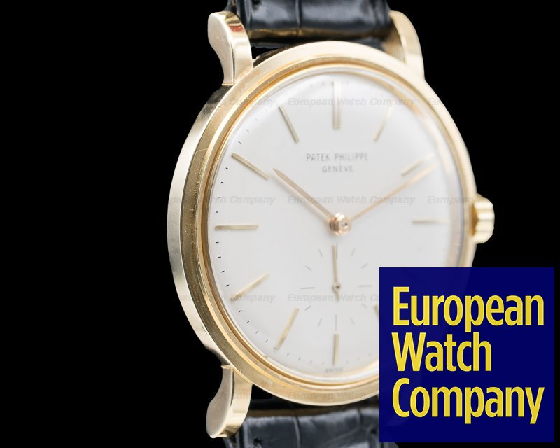 Patek Philippe 3429 Calatrava Vintage Automatic 18K Yellow Gold 1964 RAISED ENAMEL