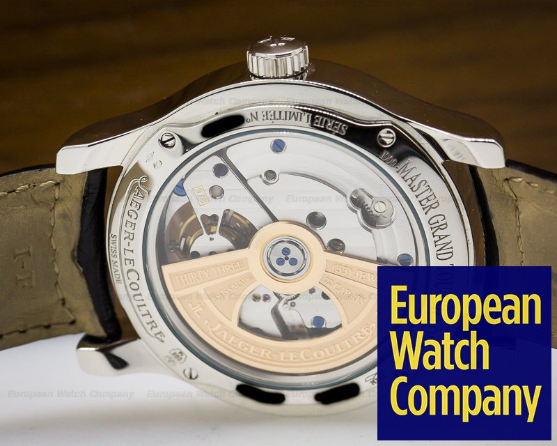 Jaeger LeCoultre Q1666470 Master Grand Tourbillon Platinum Black Dial Limited Edition