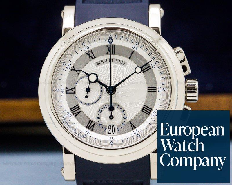 Breguet 5827BB/12/5ZU Marine Chronograph 18K White Gold / Rubber