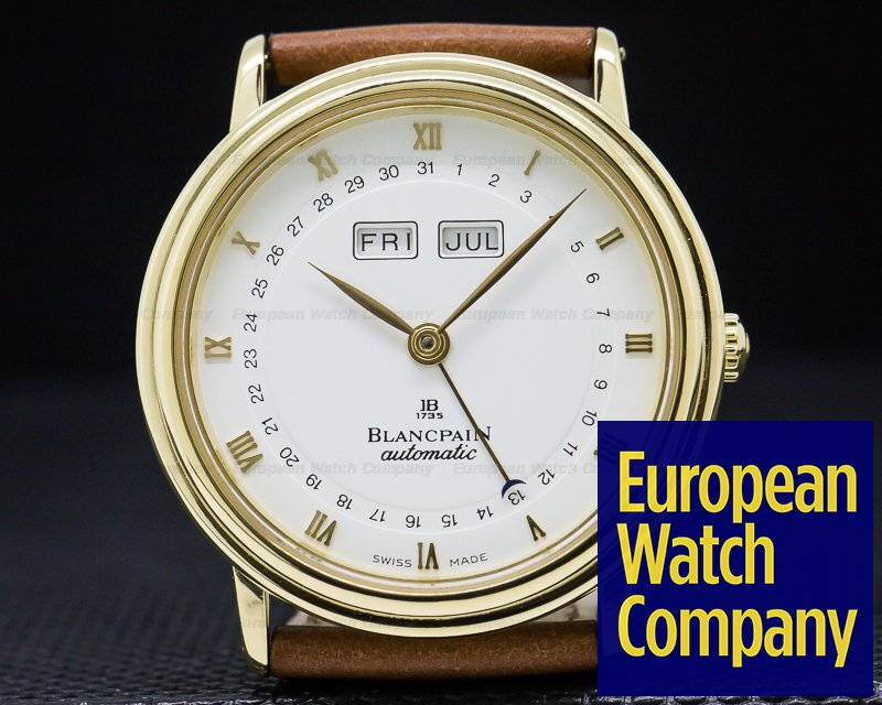 Blancpain 6695-1418-58 Complete Calendar Automatic 18K Yellow Gold 34MM