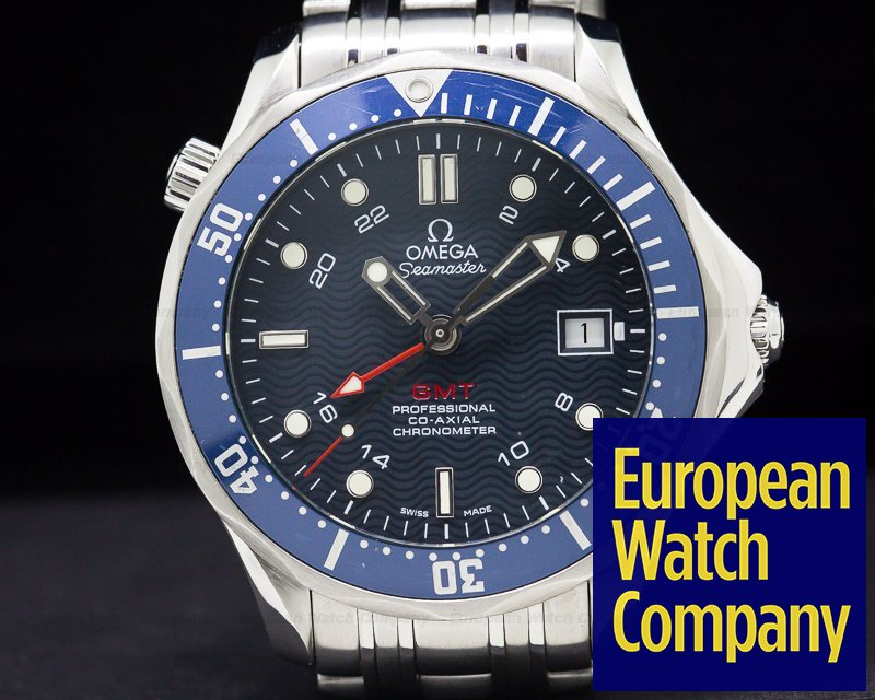 Omega 2535.80 Seamaster Professional Blue GMT SS / SS