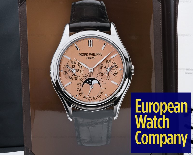 Patek Philippe 3940G-029 Perpetual Calendar SALMON DIAL 18K White Gold EXTREMELY RARE