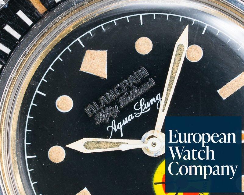 Blancpain Vintage Fifty Fathoms Aqualung NO RADIATION Circa 1965 41MM