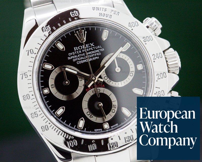 Rolex 116520 Daytona Black Dial SS / SS