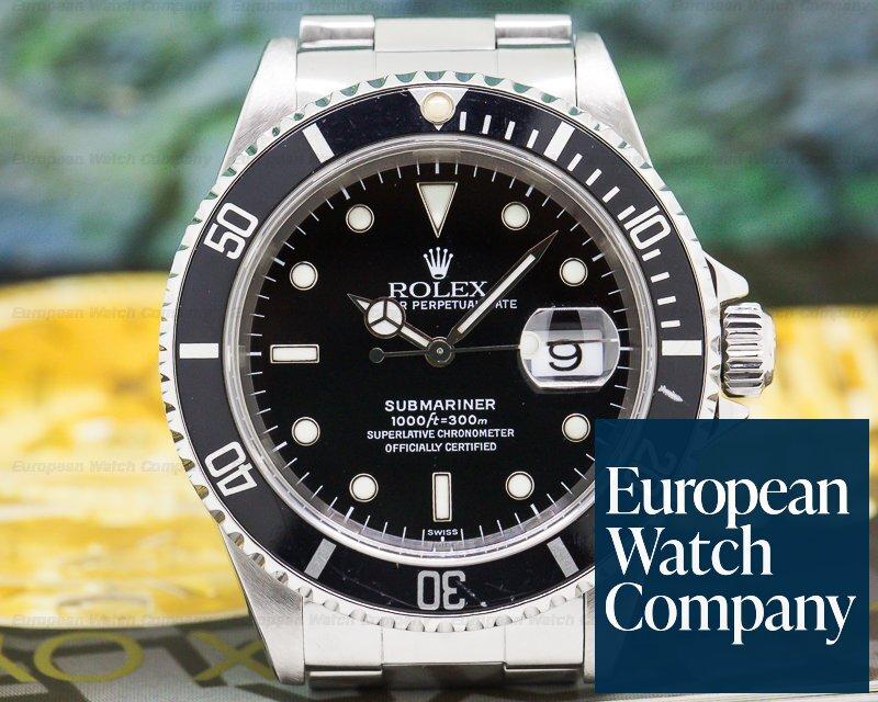 Rolex 16610 Submariner SS Black Dial