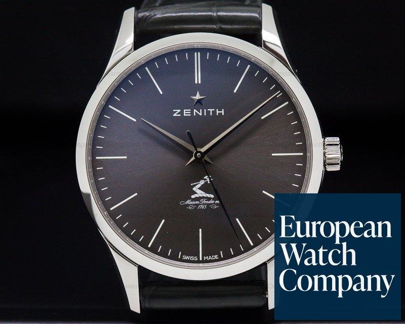 Zenith 03.2311.679/27.C760 Elite Ultra Thin Grey Dial SS 33mm