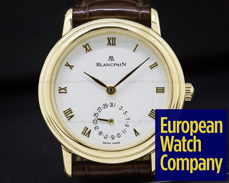Blancpain 4795-1418-58 Lady Villeret 18K Yellow Gold 28MM