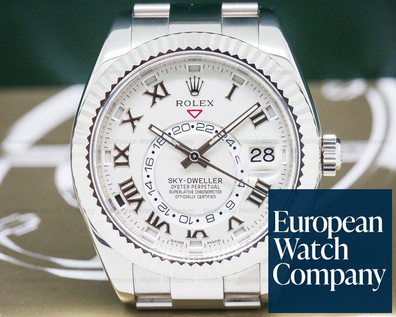 Rolex 326939  Sky Dweller 18K White Gold / White Gold