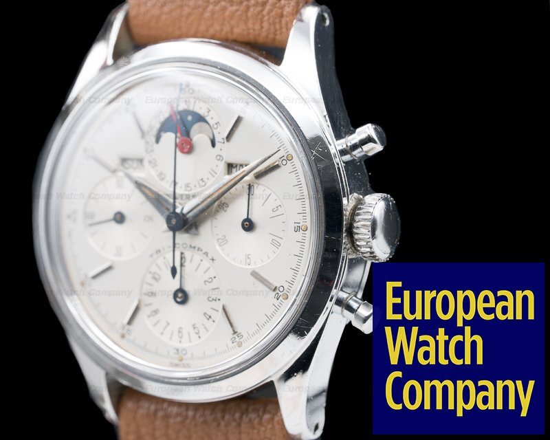 Universal Geneve 22297-3 Tri-Compax Stainless Steel / Silver Dial 1957