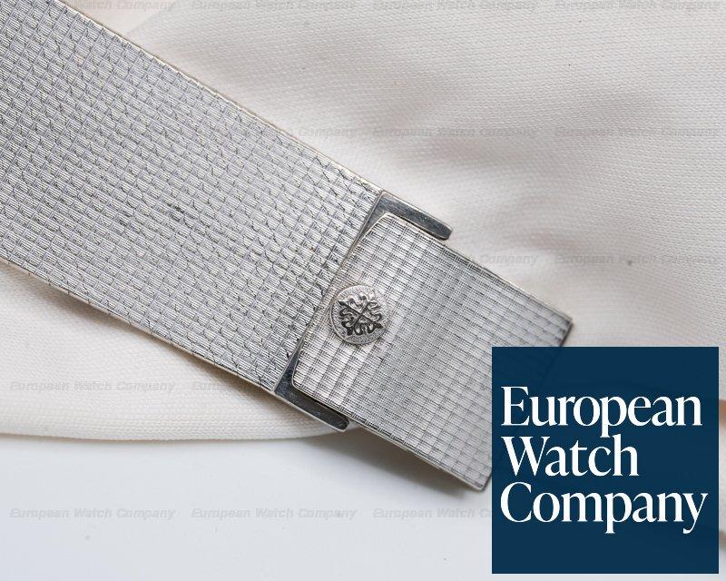 Patek Philippe 3494 Gondolo 18K White Gold Manual Wind Silver Roman Dial