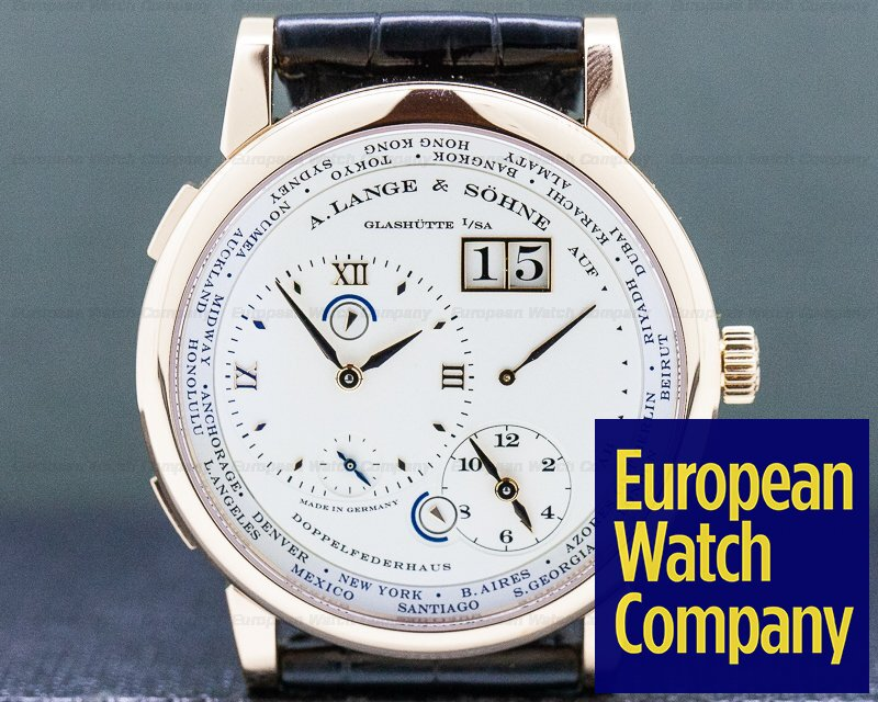 A. Lange and Sohne 116.032 Lange 1 Time Zone 18K Rose Gold