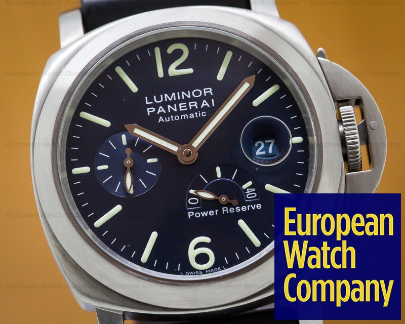 Panerai PAM00093 Luminor Power Reserve Titanium Blue Dial 44MM