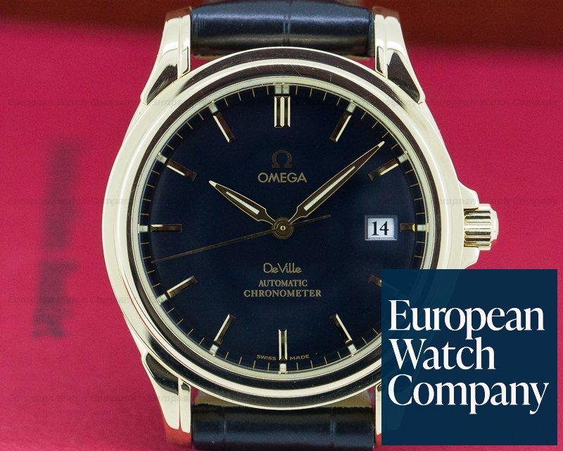 Omega 4631.80.00 De Ville Co-Axial 18K Yellow Gold Black Dial