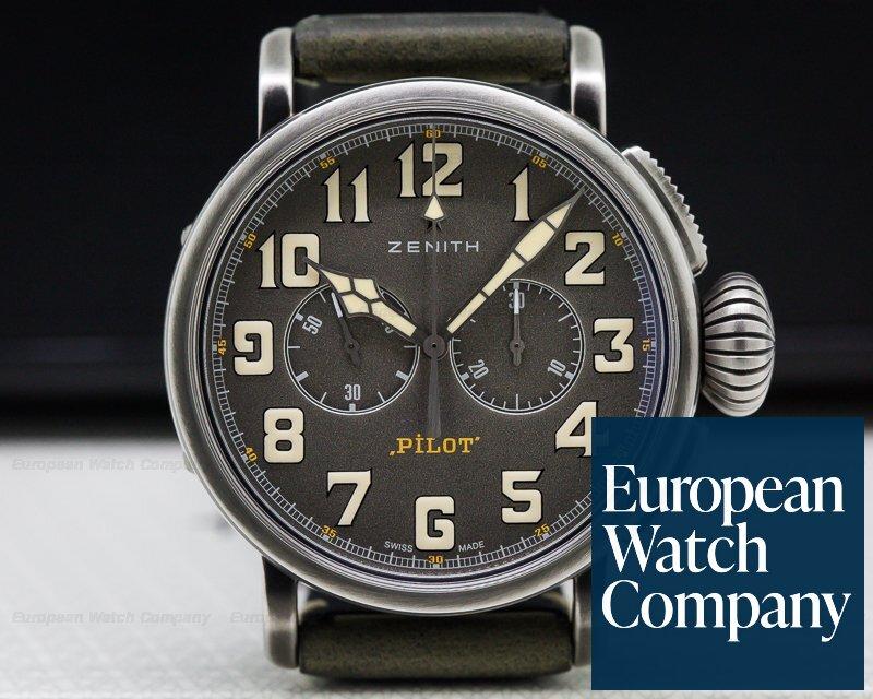 Zenith 11.2430.4069/21.C773  Heritage Pilot Type 20 Chronograph SS