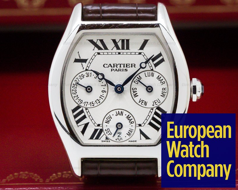 Cartier 2540 Collection Privee Tortue Perpetual Calendar 18k White Gold Limited