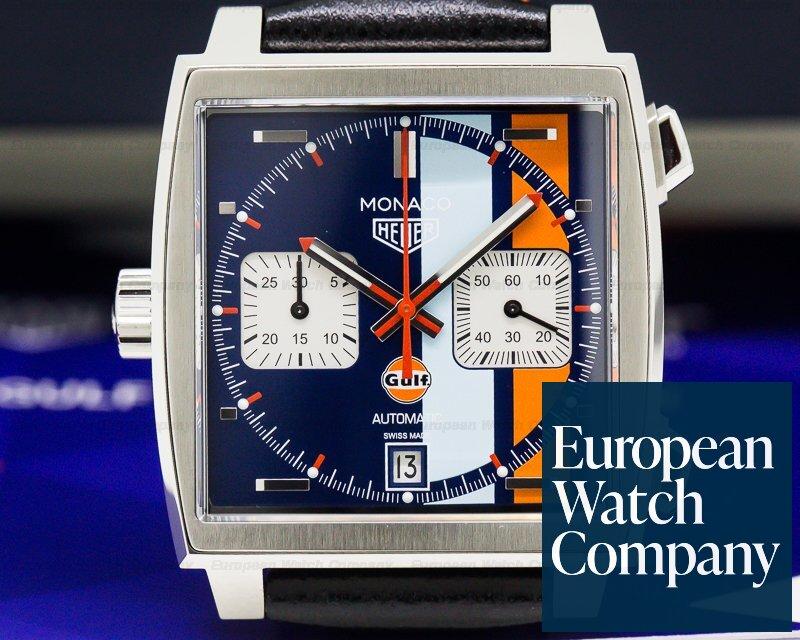 TAG Heuer CAW211T.FC6440 Monaco Chronograph GULF 50 Piece Limited UNWORN