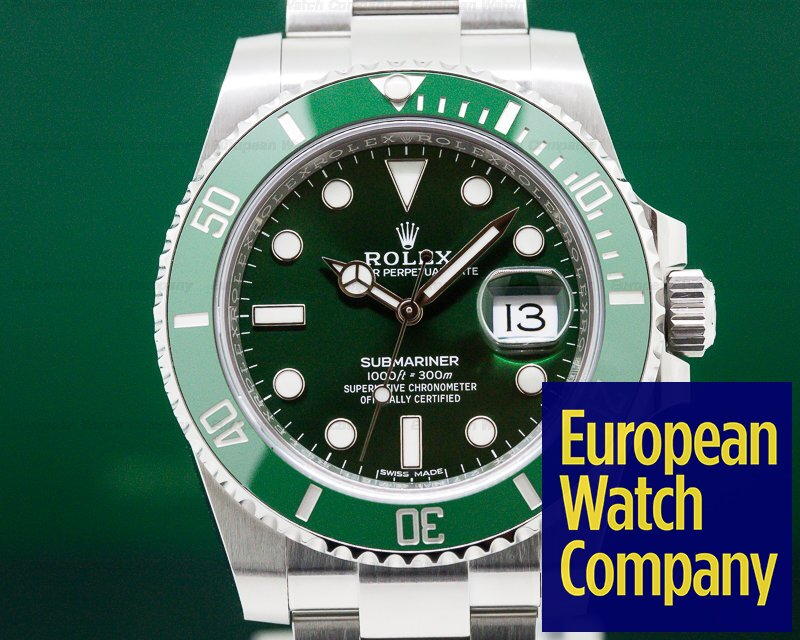 Rolex 116610LV Submariner Green Ceramic Bezel Green Dial