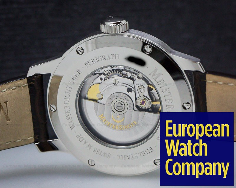 MeisterSinger AM1003 Perigraph SS Ivory Dial