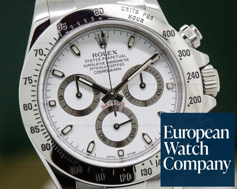 Rolex 116520 Daytona SS White Dial
