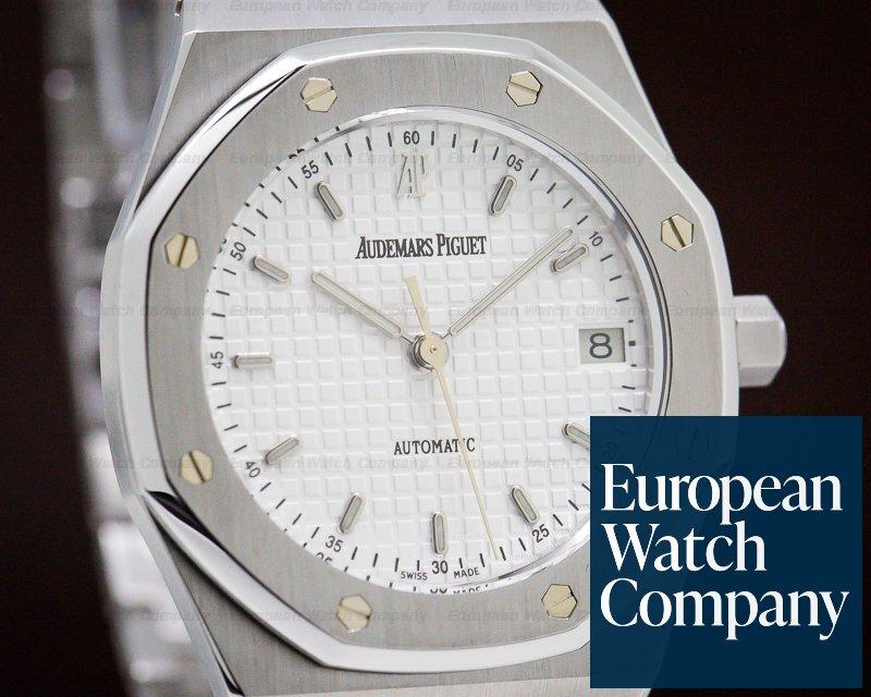 Audemars Piguet 14790ST.OO.0789ST.10 Royal Oak 36mm White Dial SS Full Set + Just Serviced