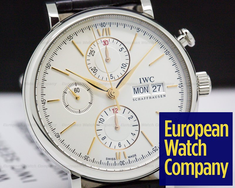 IWC IW391022 Portofino Chronograph SS Silver Dial Tang Buckle