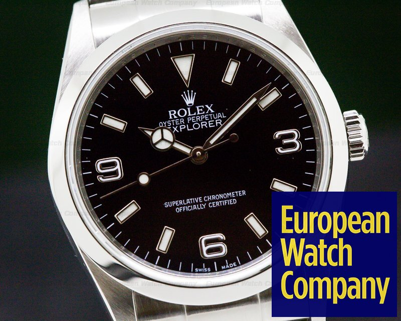 Rolex 114270 Explorer I 36MM SS Black Dial FULL SET