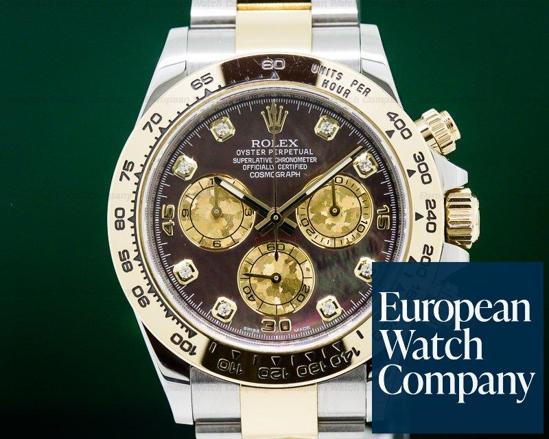 Rolex 116503 Daytona Black MOP Diamond Dial 18K Yellow Gold / SS