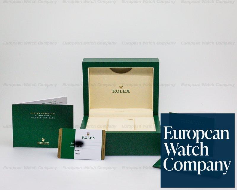 """Rolex 116610LV Submariner Green Ceramic Bezel Green Dial """"Hulk"""" SS"""