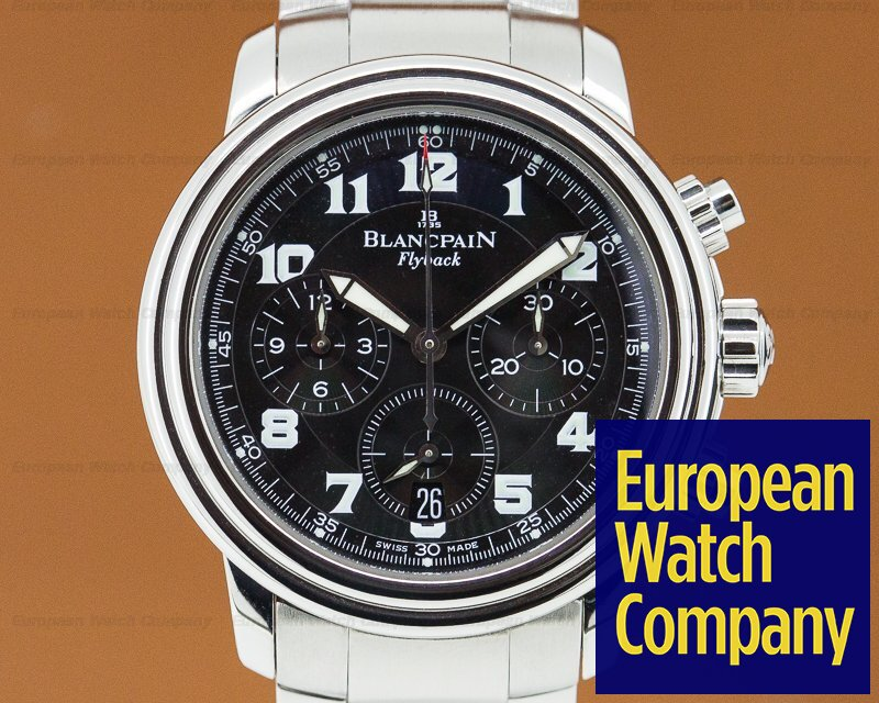 Blancpain 2185F-1130-63B Leman Flyback Chronograph Black Dial SS