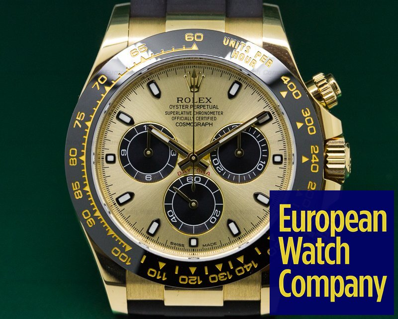 Rolex 116518 Cosmograph Daytona Ceramic 18K Yellow Gold / Champagne Dial