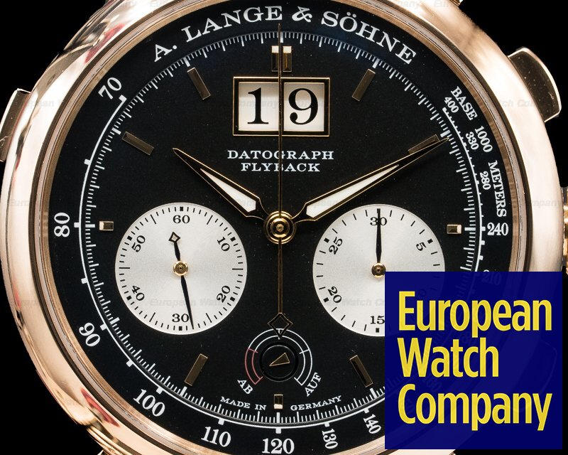 A. Lange and Sohne 405.031 F Datograph Up / Down 18k Rose Gold + Deployment Buckle