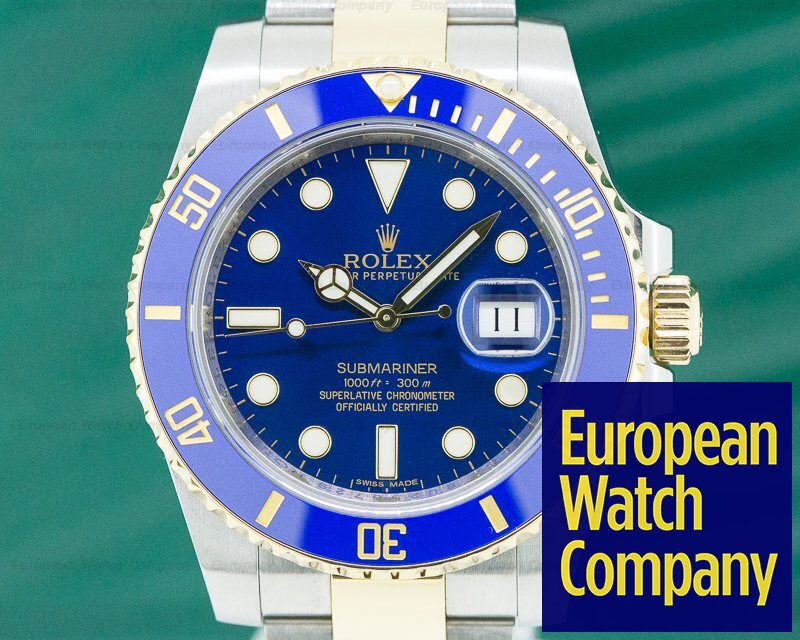 Rolex 116613LB Submariner Ceramic Blue Dial 18K / SS