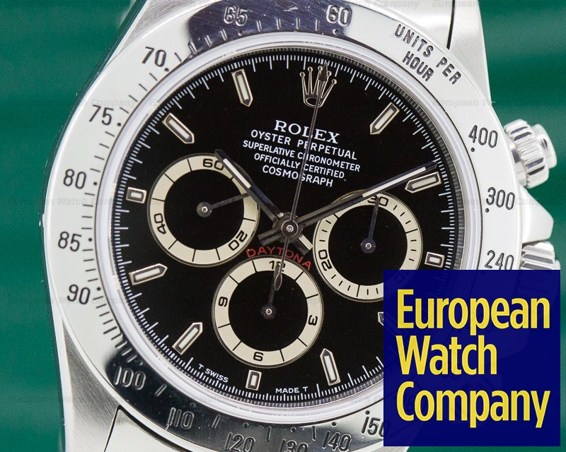 Rolex 16520 Daytona SS Black Dial Zenith Movement T Series