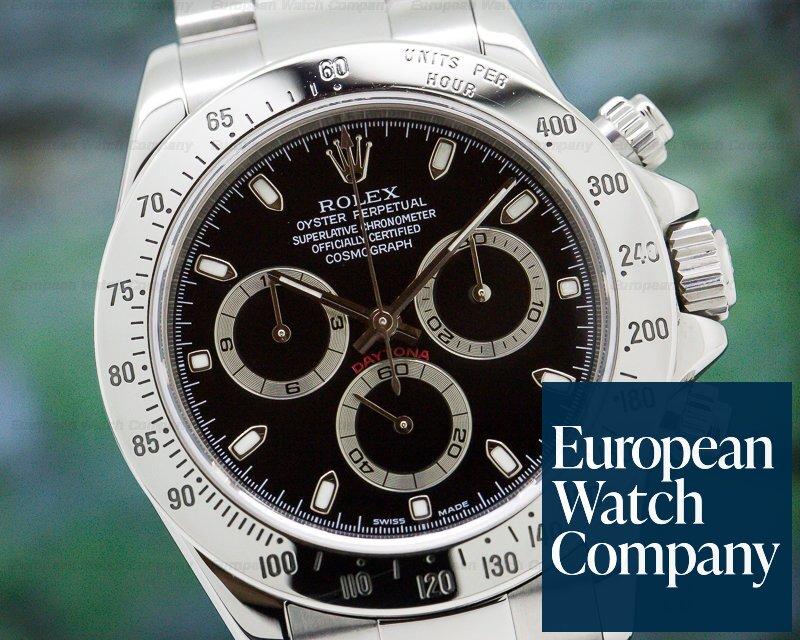 Rolex 116520 Daytona SS Black Dial