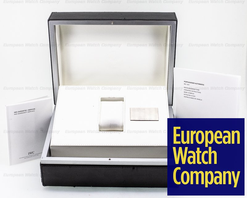 IWC IW500114 Portuguese 7 Day Automatic SS Silver Dial Rose Numerals
