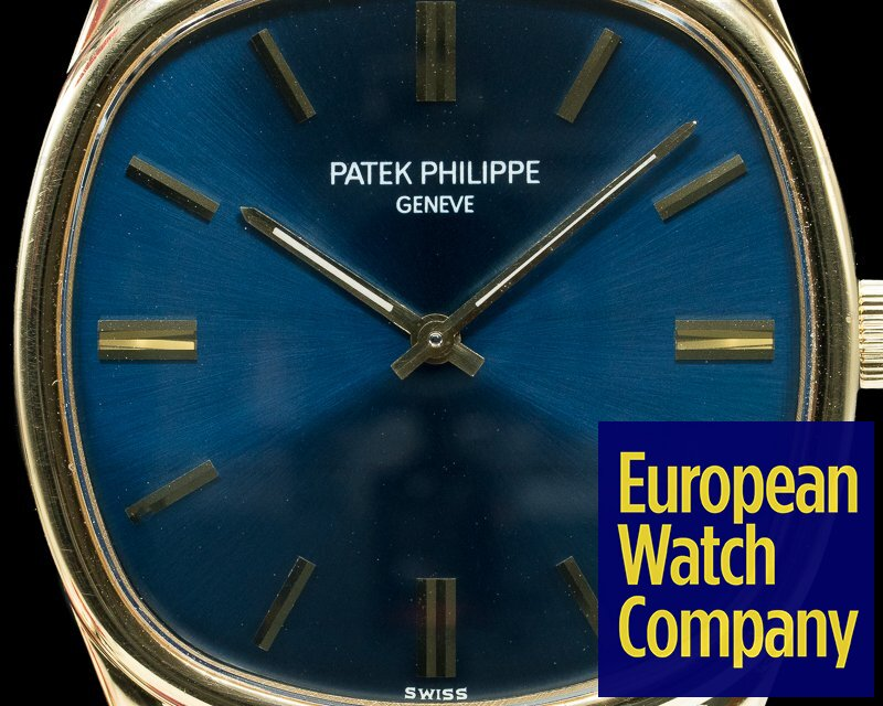 Patek Philippe 3644 Golden Ellipse 18K Yellow Gold Blue Dial