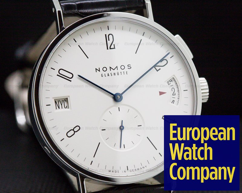 Nomos NO635 Tangomat GMT World Time SS White Dial