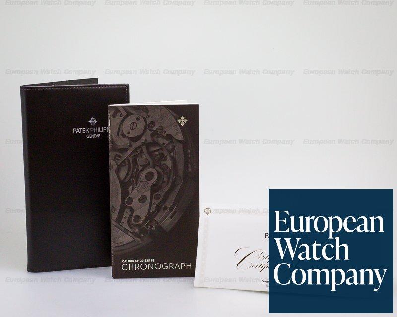 Patek Philippe 5960/01G-001 Annual Calendar Chronograph White Gold Blue Dial