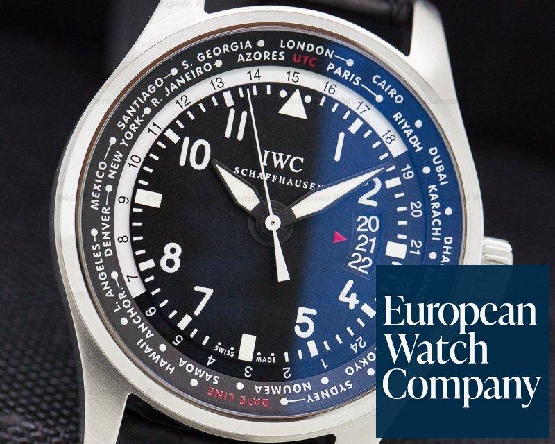 IWC IW326201 Pilot WorldTimer SS Black Dial
