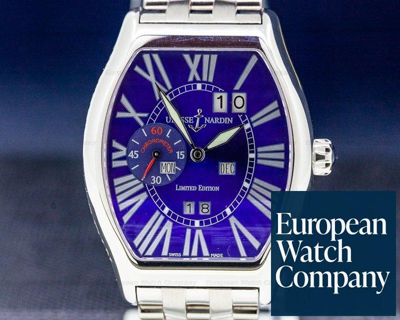 Ulysse Nardin 330-40 Ludovico Perpetual 18k White Gold Blue Dial