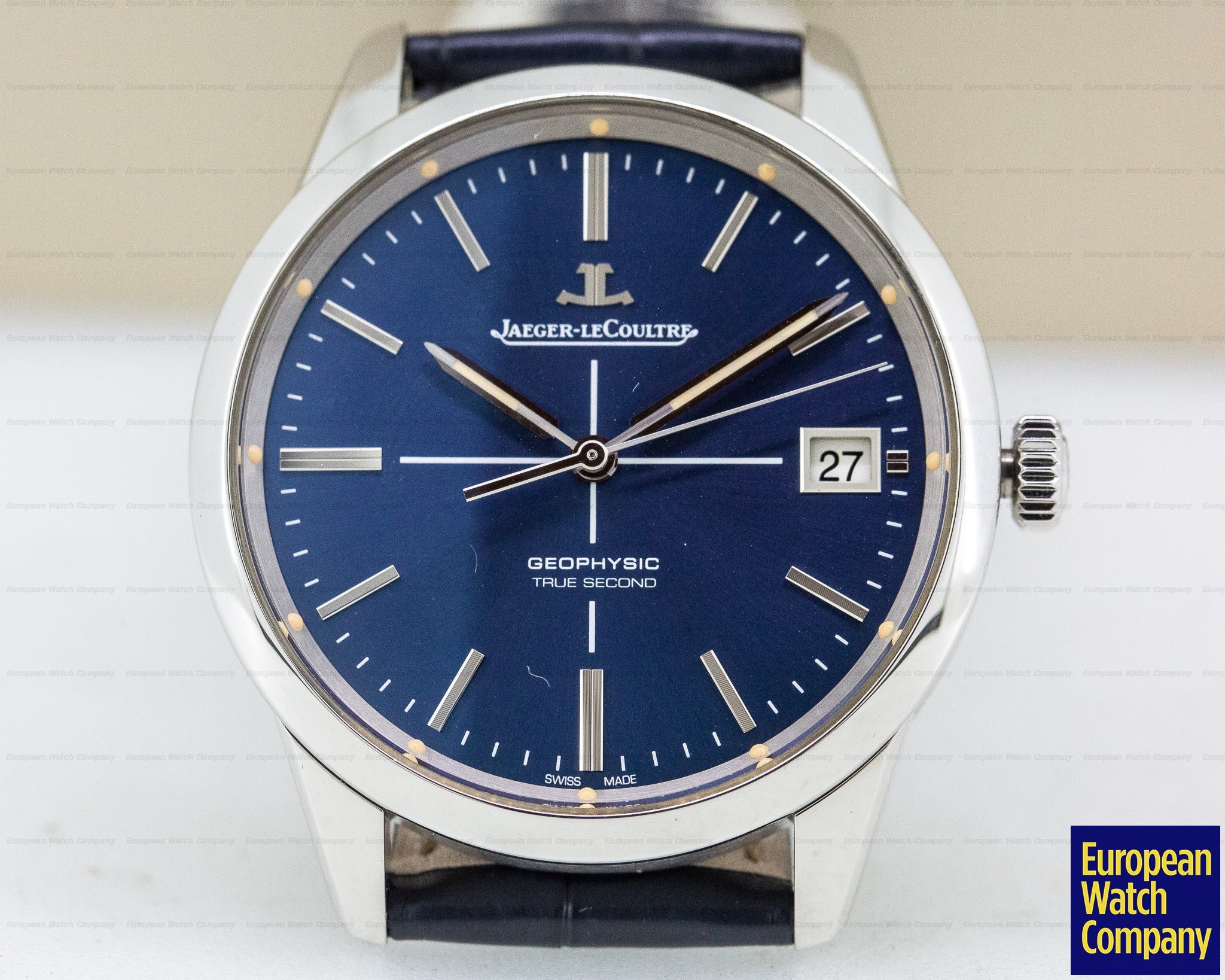 Jaeger LeCoultre Q8018480 Geophysic True Second SS Blue Dial Limited Edition