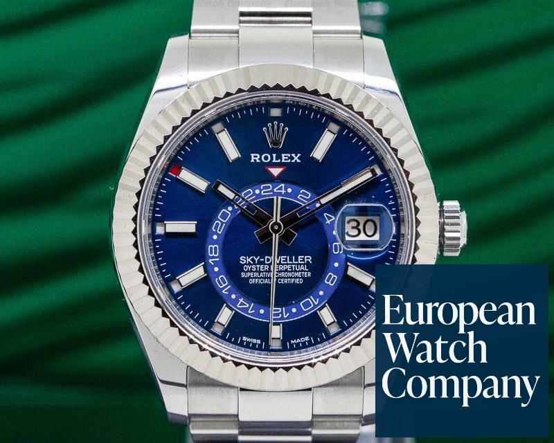 Rolex 326934 Sky Dweller Steel Blue SS