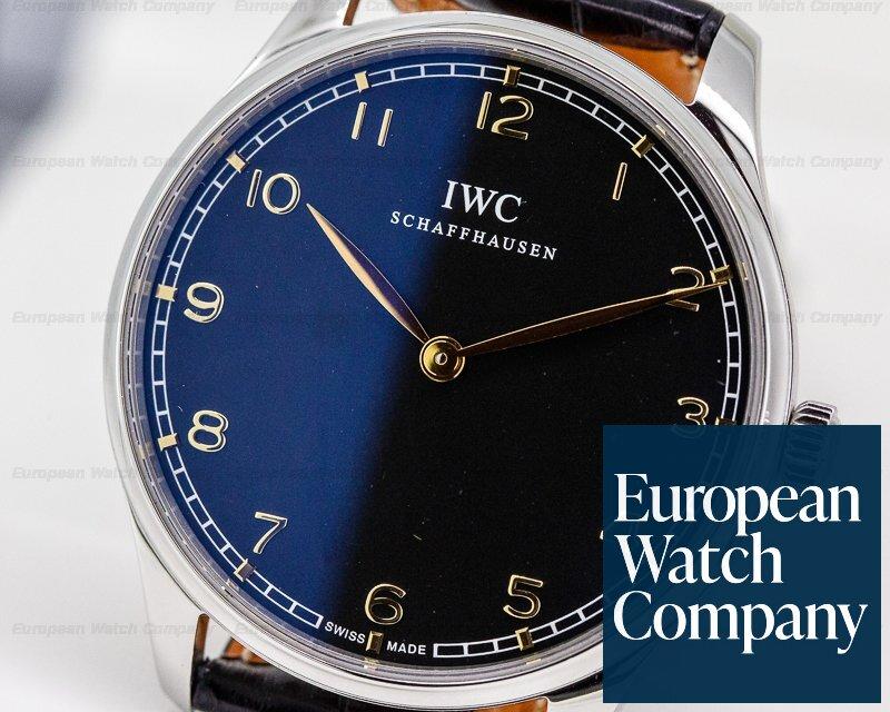IWC IW570302 Portuguese Pure Classic SS Black Dial