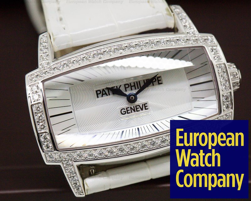 Patek Philippe 4981G-001 Ladies Gondolo Gemma 18K White Gold